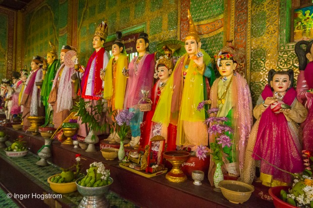 Nat spirits at Mount Popa, Myanmar.